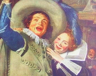 Yonker Ramp and His Sweetheart by Frans Hals - an Original, Frameable 1954 Art Print