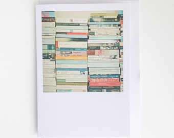 Blank Greetings Card - Bookworm