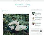 Responsive Premade Blogger Template - MERMAID'S SONG - Graphic Design - Blog Template