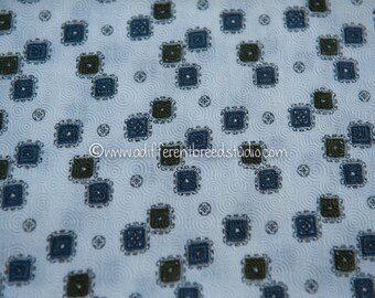 Mod Mid Century Geometric  - Vintage Fabric 50s 60s 40 in wide New Old Stock Atomic Folk Art