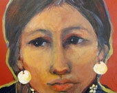 Woman of the Brule Sioux Painting 8 x 10