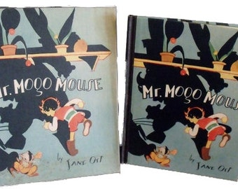 Mr. Mogo Mouse - 1930 Volland Sunny Books - Jane Ort - Art deco - In original box
