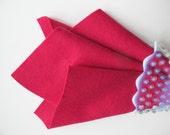 Magenta, 100% Wool Felt, Choose Size, Large Felt Square, Wool Felt Sheet, Handwork Fabric, Nonwoven Wool, Felt Fabric, Quilt Applique, DIY
