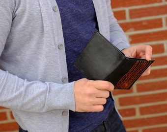 mens wallet with brown tree