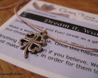 Open Clover Charm Dream it, Wish it, Wear it Bracelet/Anklet by Carmen Bowe