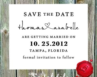 Save the Date   DIGITAL DOWNLOAD nodern design calligraphy font - style 6040  -  Digital File, Print Anywhere