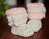 Instant download - Baby Booties Crochet PATTERN (pdf file) - Faux Fur Boots