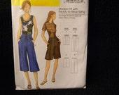 Uncut Butterick Pattern 5504 Size Xsm-Xlg Shorts and Capri Pants