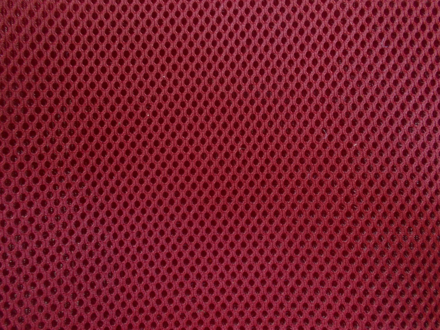 60 Wide Padded Foam Mesh Fabric Deep Cardinal Red Auto Upholstery Bags Shoes Backpacks Straps