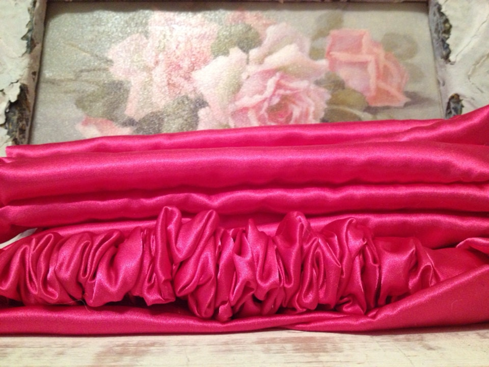 dazzling paris hot pink satin chandelier or cord cover. Black Bedroom Furniture Sets. Home Design Ideas