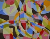Untitled Abstract #21814 - large, original, acrylic painting, 2014