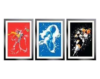 Mega Man, Protoman, and Bass Poster Set