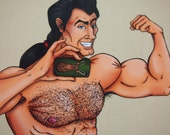 Selfie Gaston Beauty and the Beast Postcard