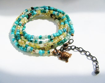 Sand and Sea Mermaid Wrap Bracelet