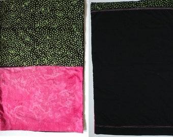 PILLOWCASE bedding for standard bed pillow bright pink black green, batik cotton tie dye hippie teen girls twin bed dorm bedding linens pc9