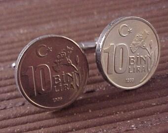 Turkey Coin Cuff Links