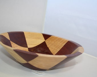 Checkerboard Maple and Purpleheart  Bowl M201