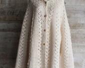Long Hooded Cape Crochet Pattern - PDF