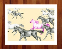 Popular items for gift for horse lover on etsy for Bedroom ideas for horse lovers