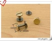 10mm x 11 mm Anti brass screws rivets 15sets Chicago screw/Concho screw Non-Rusting AC108