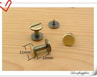 10mm x 11 mm Anti brass screws rivets 15sets Chicago screw/Concho screw Non-Rusting AC108