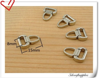 15mm x 8 mm #3  Nickel metal zipper pull charm  25pcs AC112