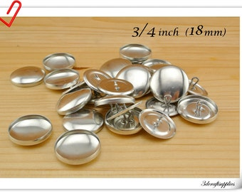 50 sets of  cover buttons 3/4 inch (18mm)  Size 30 Self cover buttons Wire back Cover button wholesale