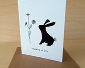 SALE Bunny Rabbit Card - thinking of you