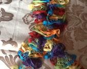 Pure Rainbow matte kids length French Ruffle scarf Beautiful