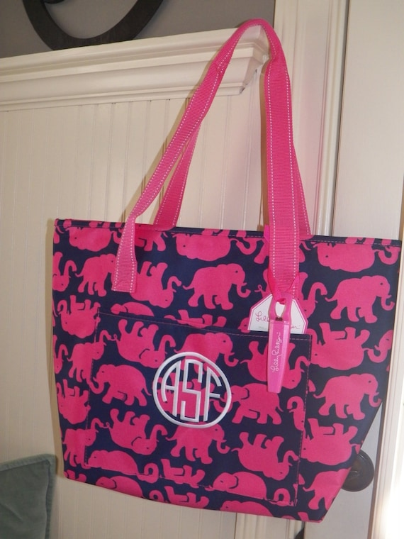 lilly pulitzer tusk in sun insulated cooler tote monogrammed