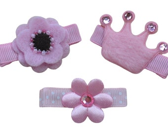Toddler Pretty In Pink No Slip Hair Barrette Gift Set for Girls