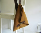 Over the Shoulder Purse in Cognac Vegan Leather