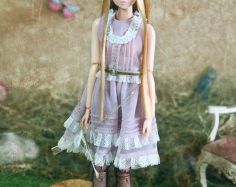 Jiajia Doll limited Rabbit Set - violet gold chain lace dress fit momoko or misaki or blythe