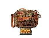 PATRICK FREY French Vintage Tapestry Shoulder Bag