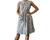 JOSSELYNE French Vintage Paislet Print Cotton Day  Dress