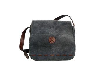 SYLVAIN French Vintage Suede Leather Satchel