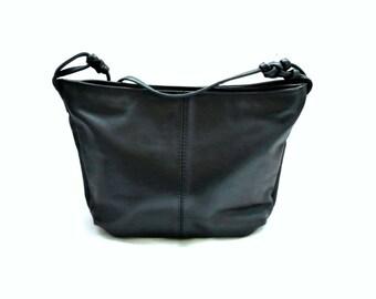 FAY FRench Vintage Dark Blue Leather Shoulder bag