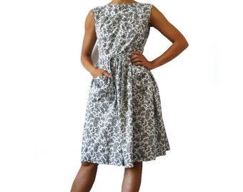 JOSSELYNE French Vintage Paislet Print Cotton Day  Dress