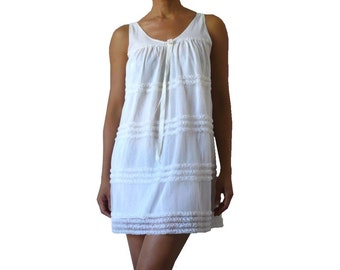 FRrench Vintage Off white Babydoll Lingerie Dress