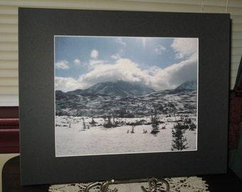 Matted, Skagway, Alaska, Mountains, No. 1, Fine Art, Photography, Print, 8 x 10, Glossy, OOAK