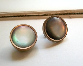 Antique Mother of Pearl Mens Gold Fill Cuff Links