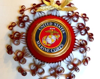 US Marine Corps Recycled Aluminum Can Decoration