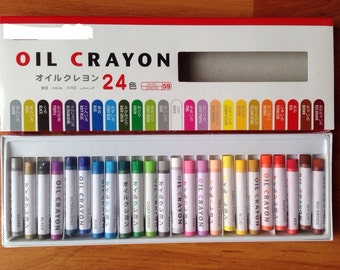 Oil crayon, color, drawing, painting, craft, colorful, colour, pink, orange, red, black, yellow, bright, 24 colors, card, kid, craft supply