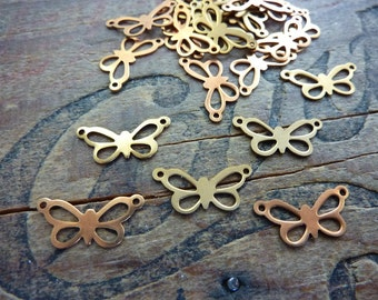 Butterfly Vintage Small Brass Lightweight Butterfly Stamping (6)