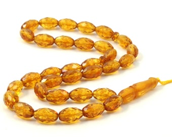 Baltic Amber 10.5x6.8 Mm Laser Faceted Beads