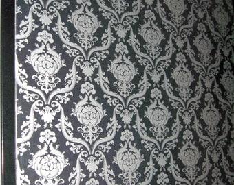 Silver Brocade.. Magnet Dry Erase Steel Memo Board / housewarming friend / gift idea / office organizer / home decor / desk / decorative art