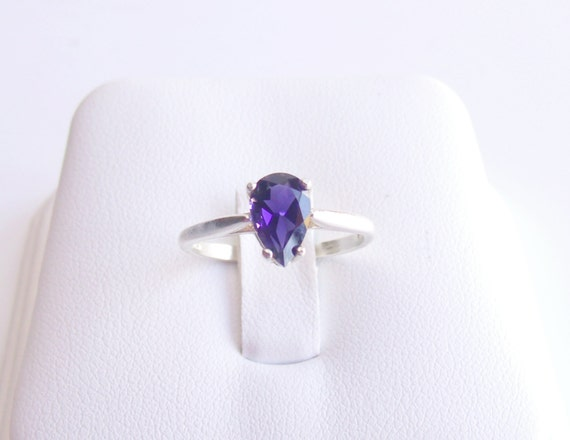 Iolite Ring Sterling Silver September Alternate Birthstone Ready to ship size 7