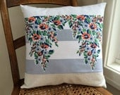 Whimsical Cottage Gray Vintage Pillow 1