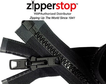 "73"" to 120 "" Vislon Tent Zipper YKK # 10 Reversible Molded with 2 Heads (Options Length and Color)ZipperStop Wholesale Distributor YKK®"