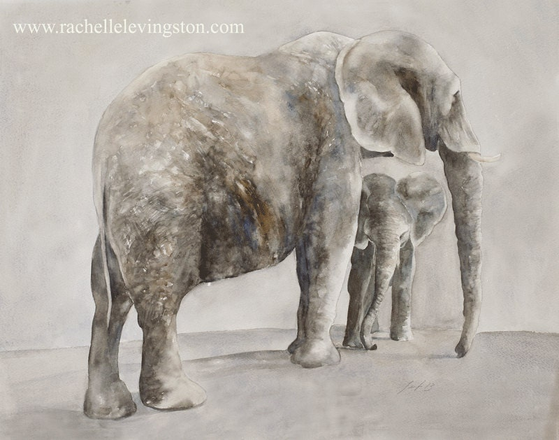 Elephant wall art print africa home decor by African elephant home decor